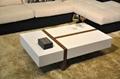 White high gloss MDF coffee table 3