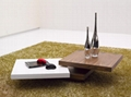 MDF modern rotation coffee table for