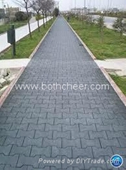 Puzzle road rubber tile