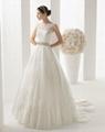 Elegant lace wedding gowns A line beaded wedding dress cheap bridal dress 1