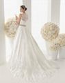 Elegant lace wedding gowns A line beaded wedding dress cheap bridal dress 3