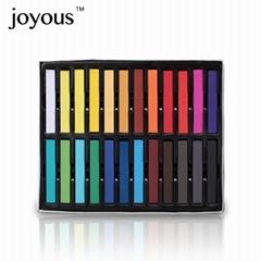 染髮棒 一次性染髮粉筆 方形24色盒裝 OEM支持驗廠