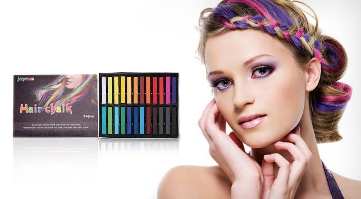 Hair Color Chalk Sticks Temporary Hair Color Chalk AHCD - Hair colour chalk