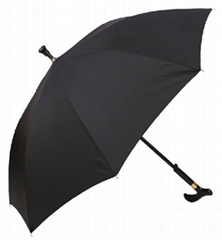 Red Pongee Straight Umbrella