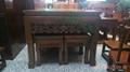 核桃木方桌