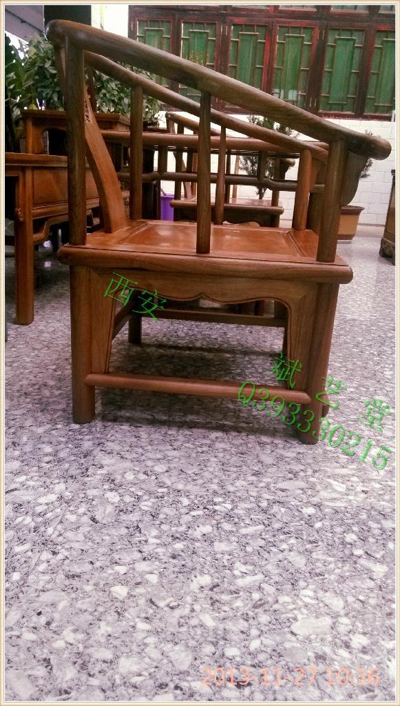核桃木圈椅三件套 2
