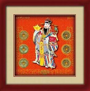 中华传统文化古铜钱礼品五福献瑞 3