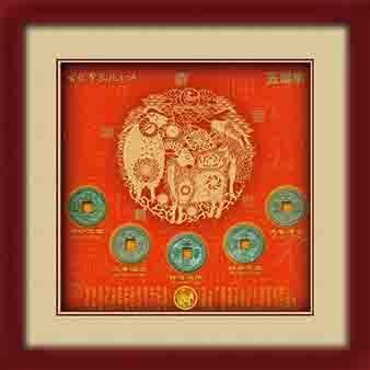 商务礼品古铜钱生肖羊 2