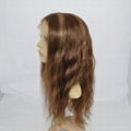 stock lace wig lace front human hair wig hair replacement straight brown #4/27 2