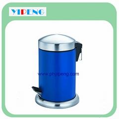 Arch lid round pedal dust bin