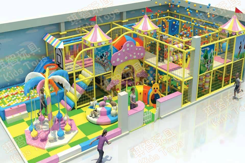 Soft Indoor Play Center For Children Qz 201406 Kids