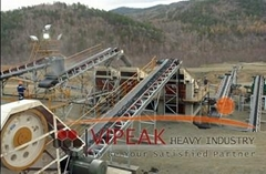 Belt conveyor of stone crusher for sale by manufacturer in China