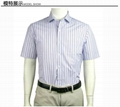 Business and leisure travelers, pointed collar short sleeve shirts 1