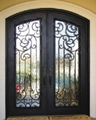 Wrought iron double door