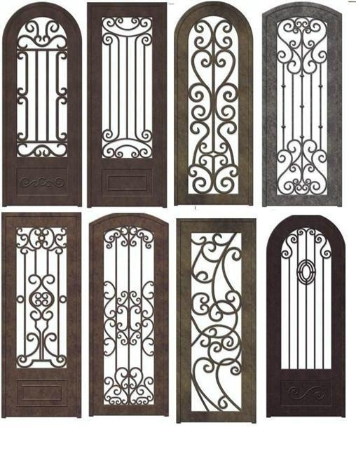 Wrought iron entry door china manufacturer products for Wrought iron entry doors