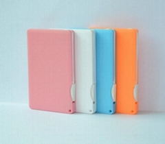 Slim Credit Card Power Bank with Micro USB Cable Built-in 2200mAh(WW-PB45)