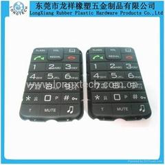 Silicone cordless phone keypad