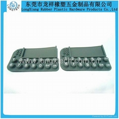 Silicone mini calculator matrix keypads