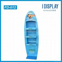 Promotion Lunch bag 4 Shelves Cardboard Point of Sale Display Rack