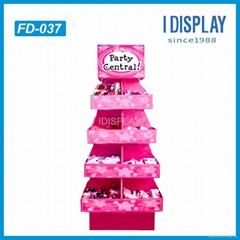 promotional gifts cardboard display stand for gifts package cardboard racks