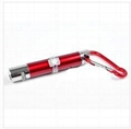 Laser Pointer Keychain LED Light Mini Flashlight Laser Variety of Patterns 2