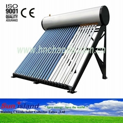 Vacuum Tubes Integrated Pressurized Solar Water Heaters
