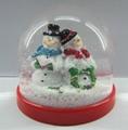 Wholesale snowman plastic water globe