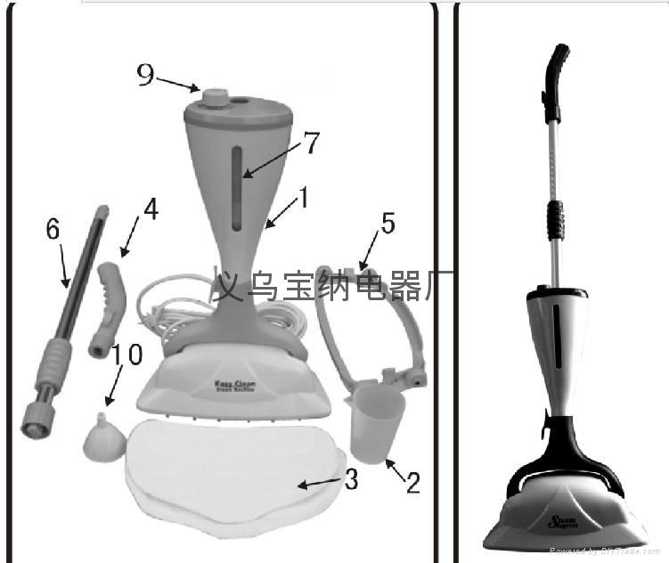 H2O MOP X5 五合一蒸汽拖把 5 in 1 steam mop TV蒸汽拖把 5