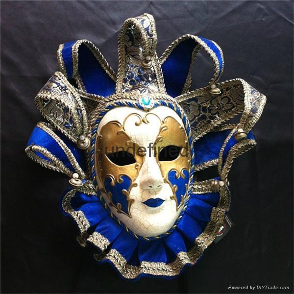 威尼斯风格手绘纸浆面具加工装扮用品