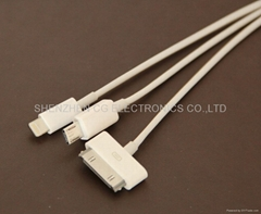 High Quality 3-in-1 USB cable for Samsung Mobile Phone