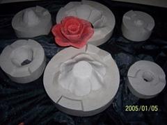 莲花蜡烛石膏模具