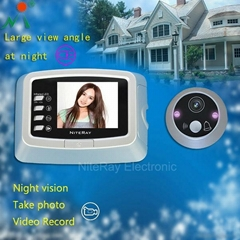 "3.0"" inch screen digital door viewer support photo snapping and video recording"