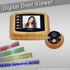 "3.0"" inch screen digital door viewer support motion detect"