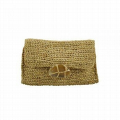 Raffia Straw Clutch Bag