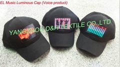 EL Music Luminous Cap/DJ Man EL Cap/EL Party Cap/EL Voice Cap (Hot Product - 1*)