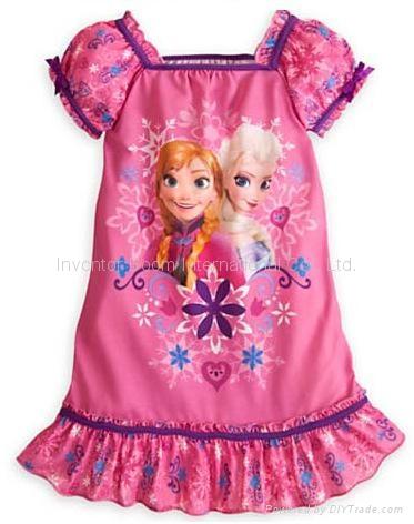 Frozen Dress Princess Elsa and Anna Nightgown Nightshirt Frozen