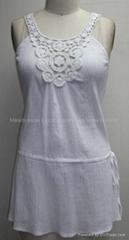 Ladies blouse in cotton crepe