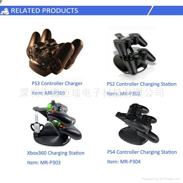 Wireless Charger for PC/XBOX1/PS3/PS4 game Controller 4