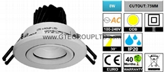 Adjustable 8W COB LED Spotlight [CUTOUT:75MM] (Hot Product - 1*)