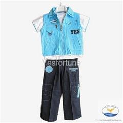 Wholesale fashion 3pcs sets summer casual boy clothes