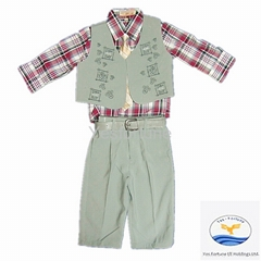 high quality classic fashion party 2014 boy clothes set
