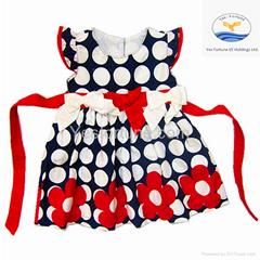 2014 new arrive girl summer beautiful polka dots dress