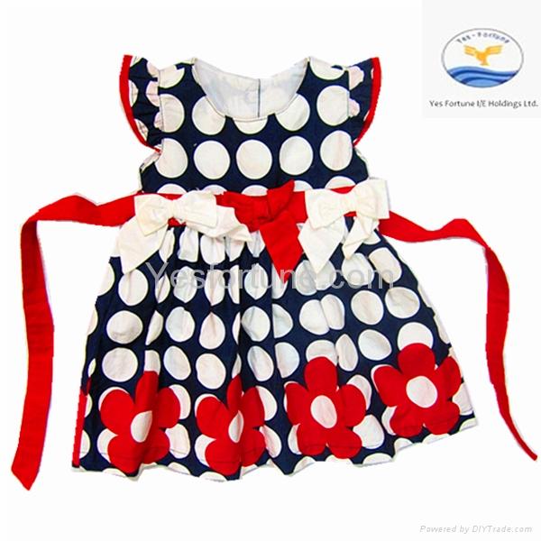 2014 new arrive girl summer beautiful polka dots dress 1