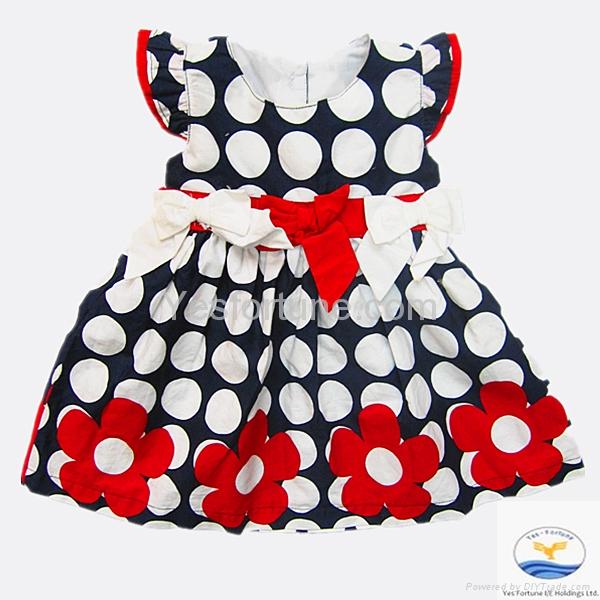 2014 new arrive girl summer beautiful polka dots dress 2