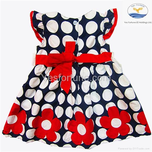2014 new arrive girl summer beautiful polka dots dress 3