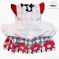2014 new arrive girl summer beautiful polka dots dress 5