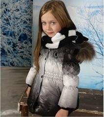 90%鴨絨羽絨服女童中長款羽絨衣棉衣110,120,130cm 5歲