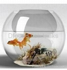 Round Glass Fish Tank