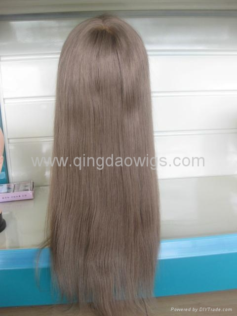 Human hair full lace wigs 1