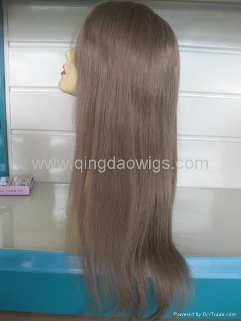 Human hair full lace wigs 3